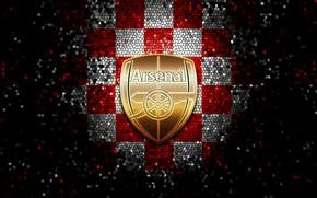 Picture wallpaper, sport, logo, football, Arsenal, glitter, checkered