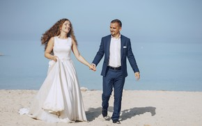 Picture love, happiness, dress, the bride, the groom