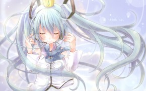 Picture crown, girl, Princess, Vocaloid, Hatsune Miku