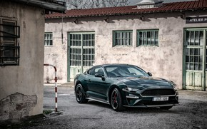 Picture Mustang, Ford, buildings, 2018, Bullitt, fastback