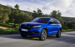 Picture movement, 2018, crossover, SUV, Skoda, Skoda, 2019, Kodiaq RS