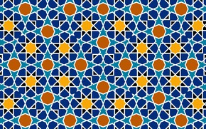 Picture texture, square, islamic pattern, octagon