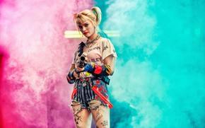 Picture girl, background, Harley Quinn, Birds of Prey