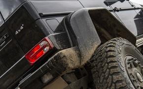 Picture black, Mercedes-Benz, dirt, SUV, 4x4, G500, G-Class, 2015, G 500, 4x4², rear bumper, V8 biturbo