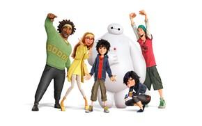 Picture cartoon, white background, Baymax, City of heroes, Baumax, Big Hero