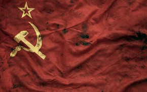 Picture flag, USSR, the hammer and sickle, communism
