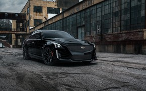 Picture Cadillac, CTS-V, Wall, Black, Lights, America