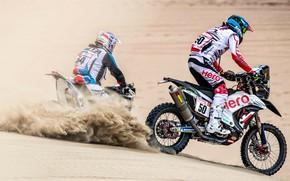 Picture Sand, Dust, Sport, Desert, Race, Motorcycle, Rally, Dakar, Dakar, Rally