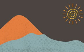 Picture sea, the sun, Sands, abstract minimalism