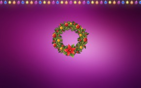 Picture Minimalism, Lights, Christmas, Background, New year, Holiday, Art, Christmas, Art, Mood, New Year, Background, Garland, …