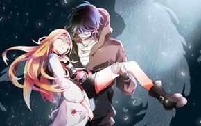 Picture girl, romance, anime, pair, guy, Angel bloodshed, Satsuriku no Tenshi