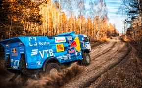 Picture Trees, Sport, Machine, Speed, Truck, Race, Master, Russia, Kamaz, Rally, Dakar, KAMAZ-master, Dakar, Rally, KAMAZ, …