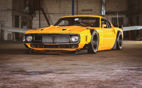 Picture Ford, Shelby, GT500, Auto, Yellow, Retro, Machine, Orange, 1969, Car, Car, Render, Muscle car, Shelby …