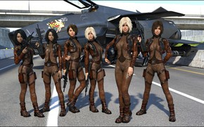 Picture girls, group, costumes