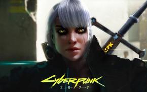 Wallpaper Art, Witcher, Fanart, Cyberpunk 2077, Ciri, Cirilla, Cyberpunk 2077 Fanart, CD Project Red, Marc Euler, ...