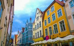 Picture street, home, Estonia, Tallinn