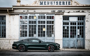 Picture Ford, 5.0 L., Parking, V8, Mustang Bullitt, 2018, fastback, 460 HP, the building