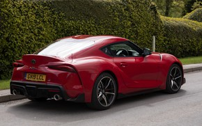 Picture red, coupe, Toyota, Supra, ass, the fifth generation, mk5, double, 2019, UK version, GR Above, …