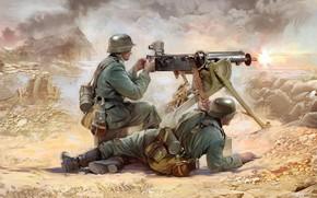 Picture Germany, the Wehrmacht, Ivan Hurenko, German infantry, MG-08, the crew