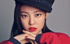 Picture hat, model, beautiful girl, asian, pose, asian girl