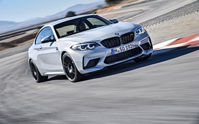 Picture asphalt, coupe, speed, BMW, 2018, F87, M2, M2 Competition