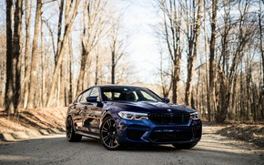 Picture BMW, Blue, Sight, F90, 3/4