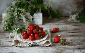 Picture berries, strawberry, plate, ripe, Egrigorovich