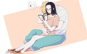 Picture pair, book, Naruto, Boruto, Sarada, Boruto Uzumaki