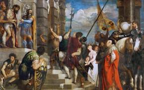 Picture Ecce Homo, Titian Vecellio, 1543, Behold the man