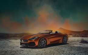 Picture desert, BMW, Roadster, 2017, Z4 Concept