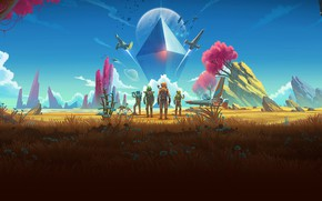 Picture planet, plants, creatures, No Man's Sky, another planet