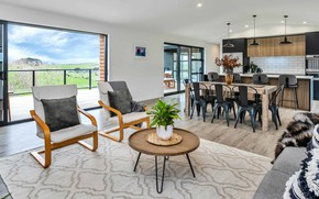 Picture interior, kitchen, New Zealand, Auckland, living room, dining room