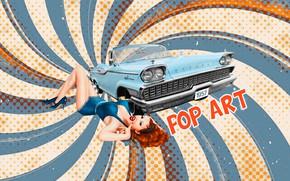 Picture vintage, grunge, retro style, pop art, pin-up, pop art, by Pyrus-acerba, пин-ап 50-х годов