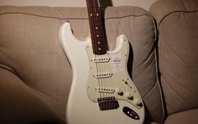 Picture guitar, electric guitar, Stratocaster, подушки дивана