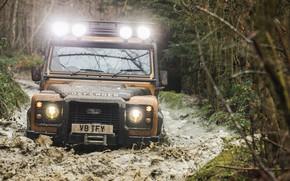 Picture water, nature, dirt, Land Rover, Trophy, headlights, Defender, Works, Land Rover Defender, vnedorozhnik, 2021
