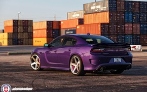 Picture Purple, Dodge Charger, Hellcat, SRT