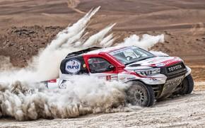 Picture Sand, Auto, Dust, Sport, Machine, Race, Toyota, Hilux, Rally, Dakar, Dakar, SUV, Rally, Sport, Toyota, …