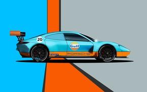 Picture Porsche, Art, Mission, Porsche Mission, Transport & Vehicles, by Liam Keating, Liam Keating, Porsche Mission …