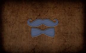 Picture Butterfly, Mustache, Background, Metal, Mustache Gentleman
