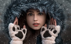 Picture winter, pose, gloves, Dmitry Begma