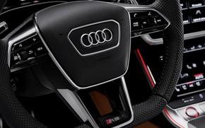Picture Audi, the wheel, emblem, universal, RS 6, 2020, 2019, V8 Twin-Turbo, RS6 Avant
