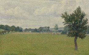 Picture 1888, Plain of Thierceville, Lucien Pissarro, Lucien Pissarro