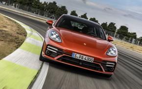 Picture Porsche, Panamera, front, universal, 2021, Panamera Turbo S Sport Turismo