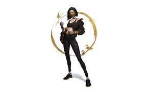 Picture Girl, Minimalism, Style, Girl, Fantasy, Art, Art, Style, Fiction, Mortal Kombat, Mortal kombat, Mileena, Minimalism, …