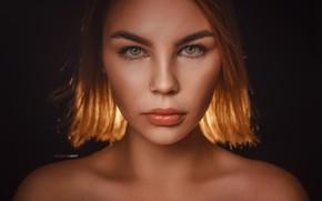 Picture look, girl, face, background, portrait, sponge, shoulders, Alexander Drobkov-Light, Елизавета Куликова