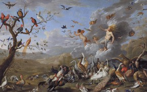 Picture picture, Jan van Kessel the Elder, Allegory Of Air, Jan van Kessel the Elder