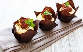 Picture cream, cupcakes, figs, Olena Rudo