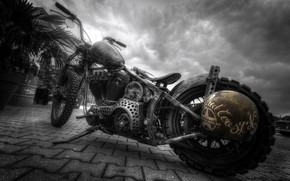Picture background, street, motorcycle