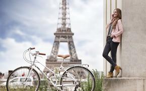 Picture Paris, Peugeot, Peugeot, Eiffel tower, Paris, Eiffel Tower, Peugeot e-Legend, electric bike, electric bike, eBike, …