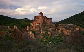 Picture mountains, nature, castle, hill, ruins, architecture, vintage, hill